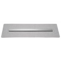Caniveau de douche avec grille en inox, longueur 800 mm, hauteur 88 mm avec siphon