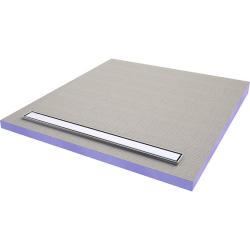 JACKOBOARD Aqua line easy Receveur à carreler avec barrette inox 180x90 cm