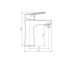 PICO mitigeur lavabo, chromé
