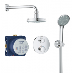 Set de douche Rainshower Cosmopolitan 160 avec thermostat encastré, chrome (34735000)