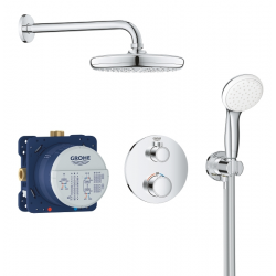 Set de douche Tempesta 210 avec thermostat encastré, chrome (34727000)
