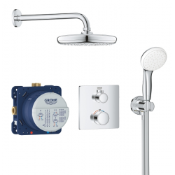 Set de douche Tempesta 210 avec thermostat encastré, chrome (34729000)