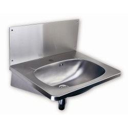 Lavabo suspendu en acier inoxydable avec trou pour robinetterie (SLUN 02)