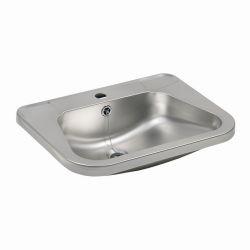 Lavabo en acier inoxydable avec trou pour le robinet (SLUN 26)
