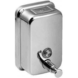 Distributeur de savon liquide en acier inoxydable, volume 1,25 l, poli (SLZN 05)