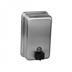 Distributeur de savon liquide en acier inoxydable, volume 1,2 l, brossé (SLZN 39)