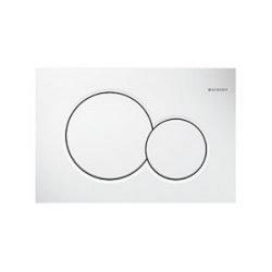 Plaque de déclenchement double touche SIGMA 01 blanche (115.770.11.5)