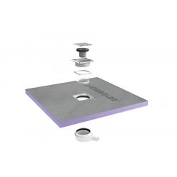 Receveur de douche à carreler Aqua Centré 900x900x40mm siphon horizontal offert (4512087 + 4512007)
