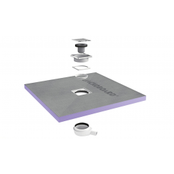 Jackon Receveur de douche à carreler Aqua Centré 1200x1200x40mm siphon horizontal offert (4512090 + 4512007)
