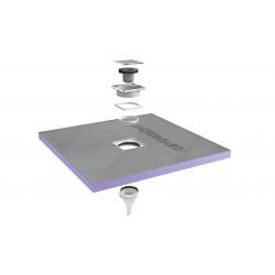 Jackon Receveur de douche à carreler Aqua Centré 1500x1500x40mm siphon vertical offert (4512131 + 4512008)