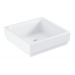 Cube Céramique - Lavabo sans trop-plein, 400x400 mm, PureGuard, blanc alpin