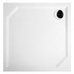 ANETA90, receveur blanc carré en marbre reconstitué 90x90x4cm (GA009)