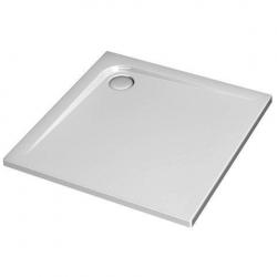 Receveur de douche ultra plat carré 800 x 800 mm traitement Ideal Grip, blanc - (K5172YK)