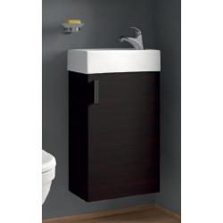 JIKA PETIT meuble + lavabo, chêne foncé, 38,6 x 22,1 x 58,5 cm