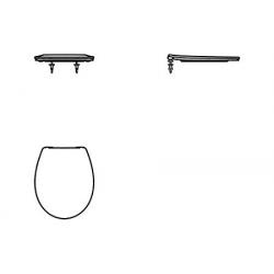 Ideal Standard Universal WC siège blanc , avec freins de chute (E131801) - DESTOCKAGE