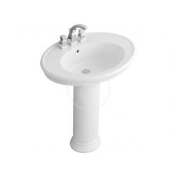 Lavabo colonne AMADEA avec Ceramicplus, blanc