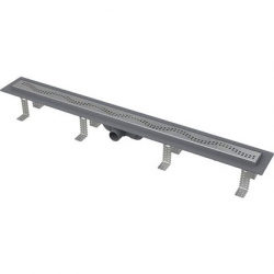 Caniveau de douche simple pour grilles perforées 75 x 14,5 x 8 cm (CPZ8-750M)