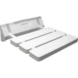 AQUALINE Siège de douche rabattable 32x33cm, blanc
