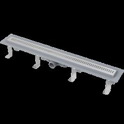 Drain de douche simple pour grilles perforées 55 x 14,5 x 8 cm