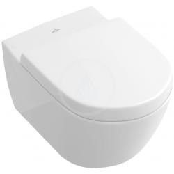 Villeroy & Boch Subway 2.0 WC suspendu à fond creux, blanc, DirectFlush avec CeramicPlus (5614R0R1)
