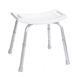 Siège salle de bain hauteur réglable, blanc (A00601101)