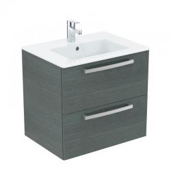 Ideal Standard Tempo – Lavabo sur meuble (K2979SG) coloris chêne gris, 610x450 mm