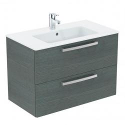 Ideal Standard Tempo - Lavabo + meuble (K2978SG) coloris chêne gris, 81,5 x 45 x 56,5 cm