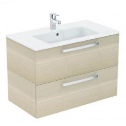 Tempo - Lavabo + meuble (K2978OS) coloris chêne sablé, 81,5 x 45 x 56,5 cm