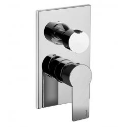 Mitigeur de douche encastré, 2 sorties, finition chrome (TA018CR)