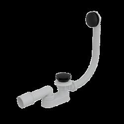 Bonde clic-clac de bain avec siphon, Noir mat (A507BLACK)