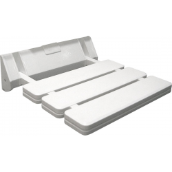 AQUALINE Siège de douche rabattable 32x33cm, blanc (AE357)