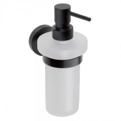 Distributeur de savon mural DARK en laiton noir et verre 230ml (XB100)