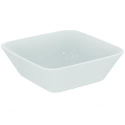 Vasque à poser 130 x 400 x 400 mm, avec Ideal Plus, Blanc (E0347MA)