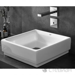 Cube Ceramic Vasque à poser 50 cm, blanc alpin (3948100H)