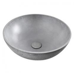 Vasque à poser ronde grise en béton ciré 42cm (CEM4242S)