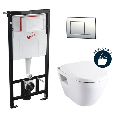PACK WC ALCA PLAQUE CHROME + SM10