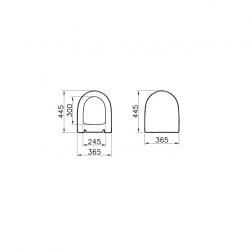 SENTO Cuvette RIM-EX (sans bride) et abattant ultra-fin avec frein de chute (7748B003-0075 + 120-003R009)