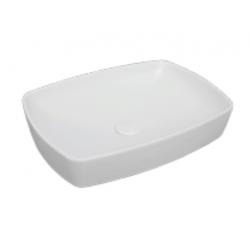 Vasque à poser blanc mat rectangulaire, 60x44cm