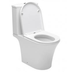 Combi WC à poser sans bride, avec abattant softclose - remplissage par le bas