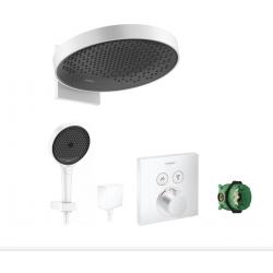 Ensemble encastré de douche 2 fonctions Rainfinity / ShowerSelect, Blanc mat
