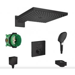 Raindance E300 set de douche noir mat avec set de finition ShowerSelect