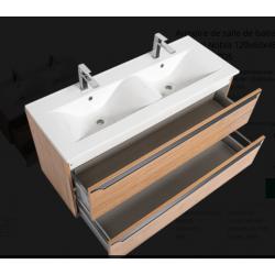 Armoire de salle de bains Naturel Nobia 120x60x46 cm chêne