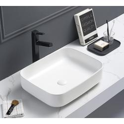 Vasque à poser Infinitio 50 x 39 x 13 cm sans trop-plein, blanc