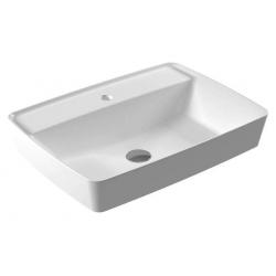 Vasque à poser 40X60cm avec plage de robinetterie