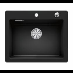 Evier PALONA 6 PuraDur en céramique avec vidage automatique 61.5x51cm, Noir
