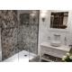 Receveur de douche 100x90cm SIKOSTONE blanc en marbre coulé