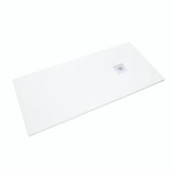 Receveur de douche 160x80cm SIKOSTONE blanc, en marbre coulé