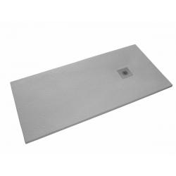 Receveur de douche 100x80cm SIKOSTONE gris, en marbre coulé
