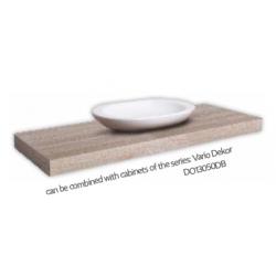 Tablette 100x50 pour vasque à poser, bois clair