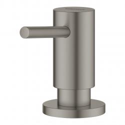 Cosmopolitan Distributeur de savon liquide avec pompe et réservoir 500ml, Hard Graphite brossé (40535AL0)